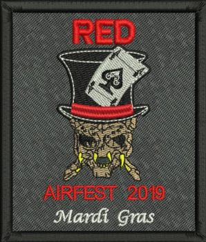 RED Airfest 2019 Embroidered badge